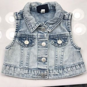 Kids faded denim vest